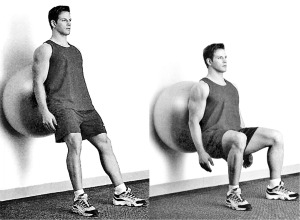 Swiss Balls are great for Squats