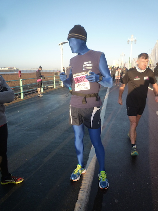 Running Morph at Brighton Half Mararthon