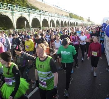 Charity runners at the Brighton Half Mararthon