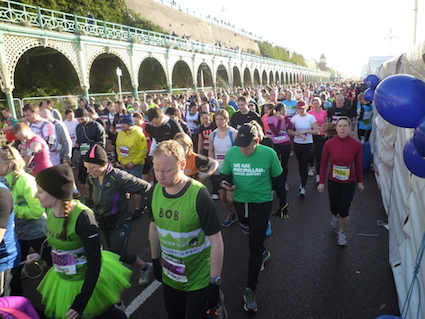 Charity runners at the Brighton Half Mararthon