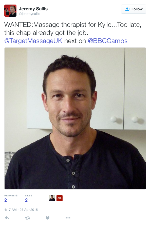 Tweet from BBC radio Cambridgeshire