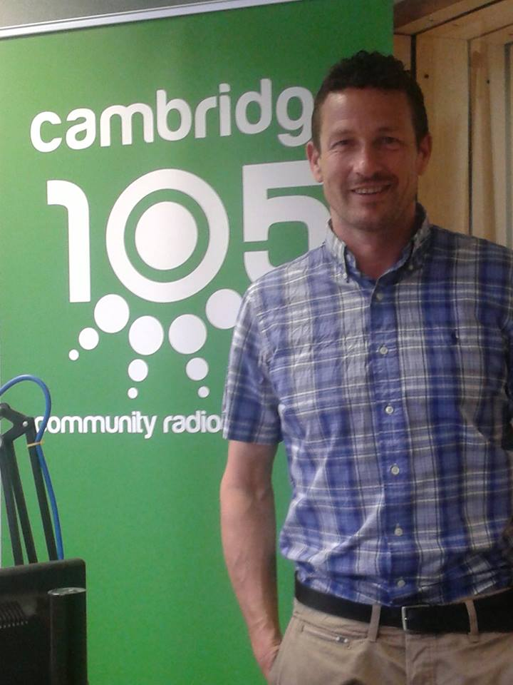 Cambridge 105 FM studio